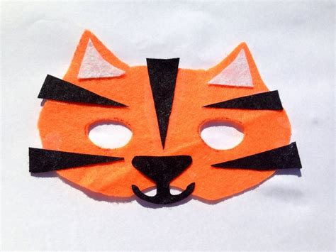 How To Make A Tiger Mask Out Of Paper - felt tiger mask mask tutorial how to make a tiger mask