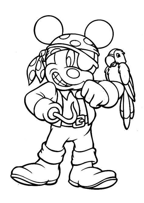 desenho de mickey pirata para colorir tudodesenhos