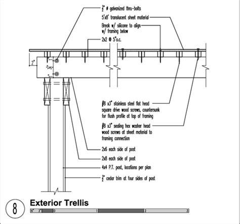 Trellis Construction Detail a guide to architectural trellis design build
