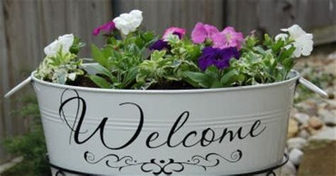 Welcome Garden Planter by Embroidery Garden Welcome Planter