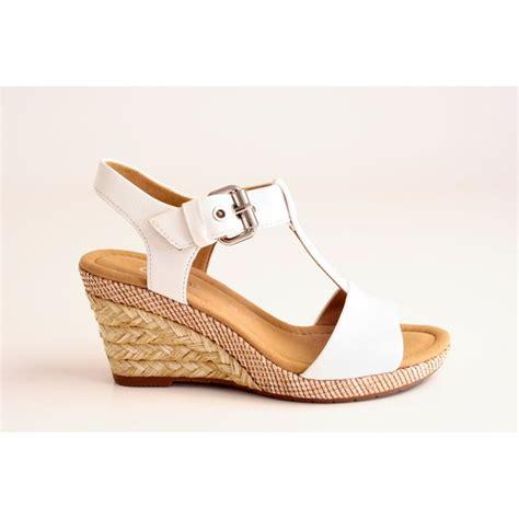 t wedge sandal gabor gabor style white leather t bar wedge sandal