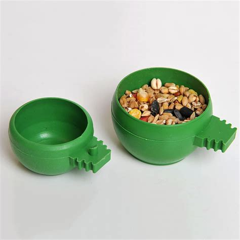 sand cup bird pigeons plastic round food bowl cups 4cm