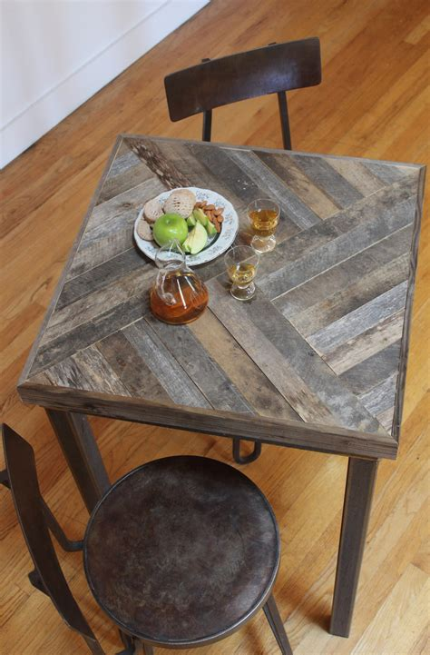 Reclaimed Wood Bistro Table Reclaimed Pallet And Barn Wood Pub Table Kitchen By Newantiquity