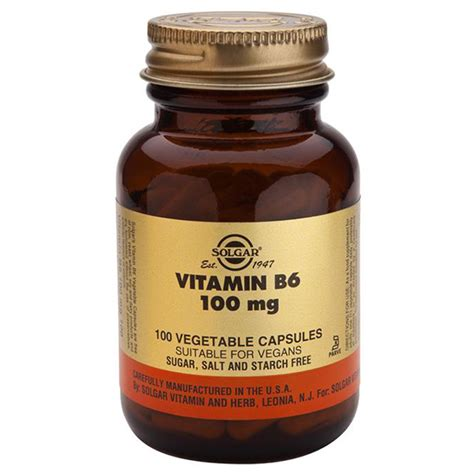 Vitamin B6 Vitamin B6 100mg From Solgar Wwsm