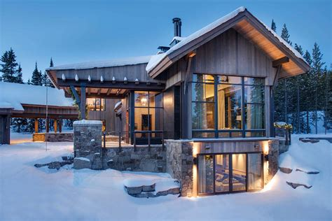 mountain architecture floor plans breathtaking mountain modern home deep in the montana forest