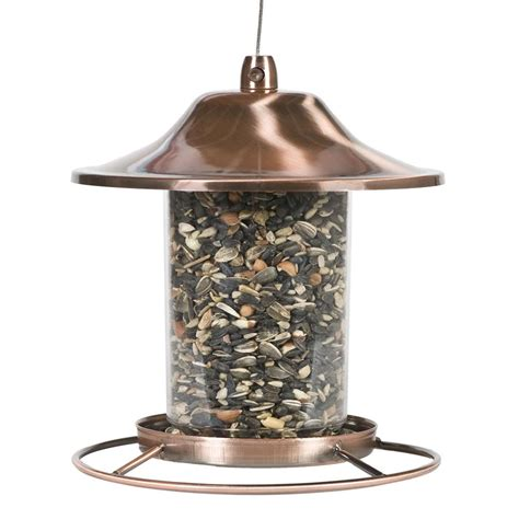 Copper Bird Feeders Pet Copper Panorama Bird Feeder 312c The Home Depot