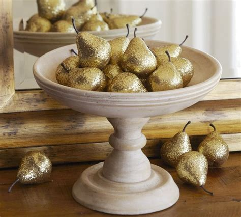 Pear Home Decor | gold pears vase filler modern home decor by pottery barn