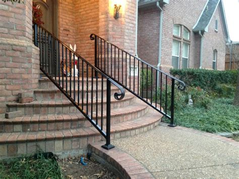 banisters and handrails installation handrail installation iron metal stairway railing also