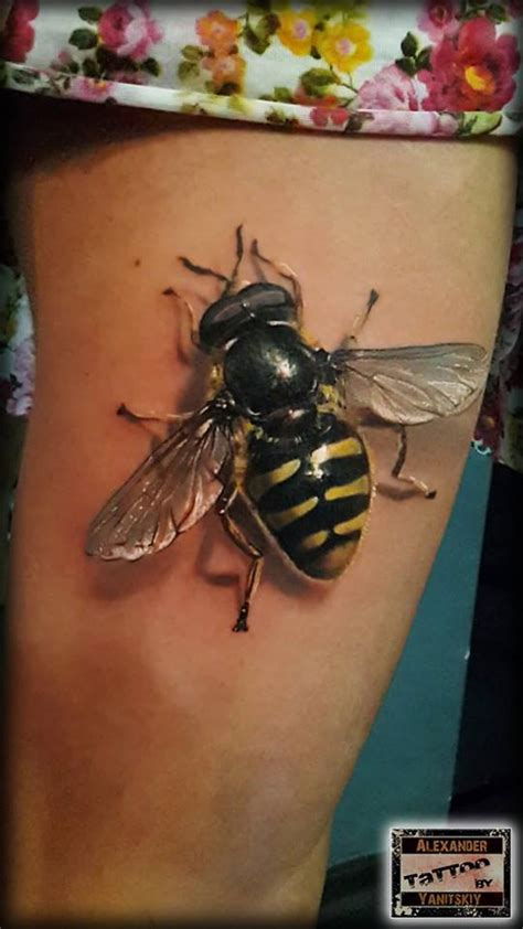 stunning realistic bee tattoo best tattoo design ideas