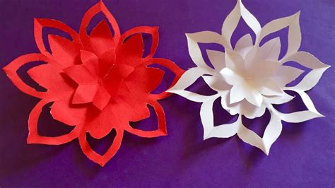 Flower Paper Craft Ideas - mothers day gift ideas how to make a paper flowers