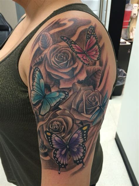 tattoos roses and butterflies 844 best s i like images on awesome