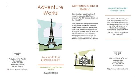 Travel Brochure Exles For Kids Renanlopes Me Brochure Templates For Students