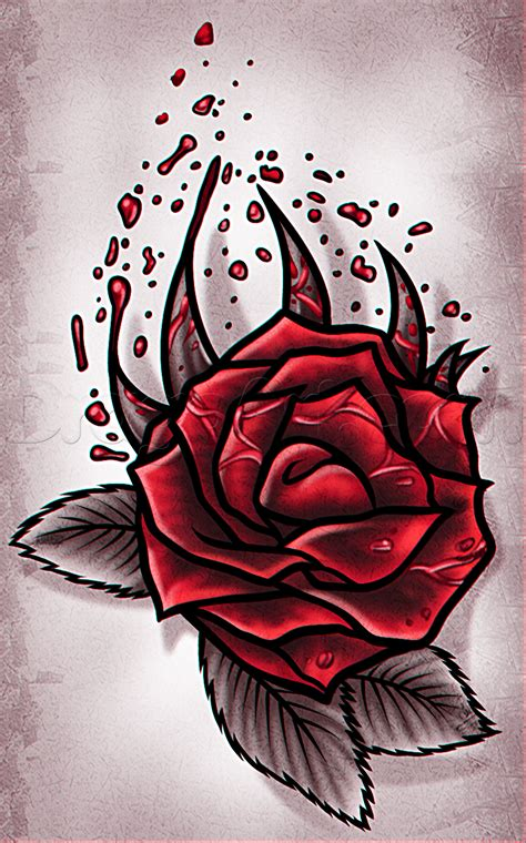 how to draw a rose tattoo design step by step tattoos