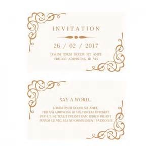 Wedding Invite Ideas Mariage Carte D Invitation T 233 L 233 Charger Des Vecteurs Gratuitement