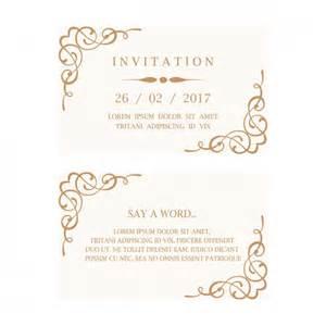 wedding invitation card vector free