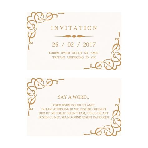 invitation design company names wedding invitation card vector free download