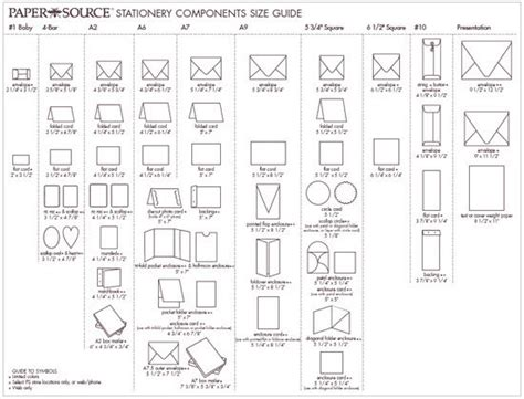 25 best ideas about envelope size chart on standard envelope sizes size