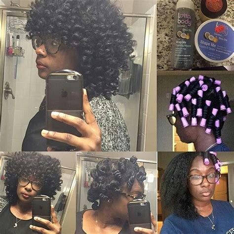 perm rod set using ors lock and twist gel and premium 167 best flexi rods on natural hair images on pinterest