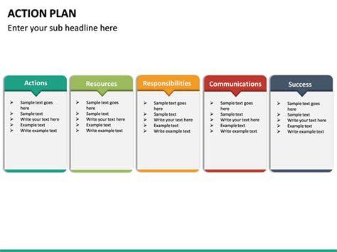 action plan powerpoint template sketchbubble