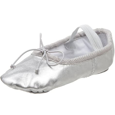 silver slippers shoes class b700 silver ballet flat toddler kid