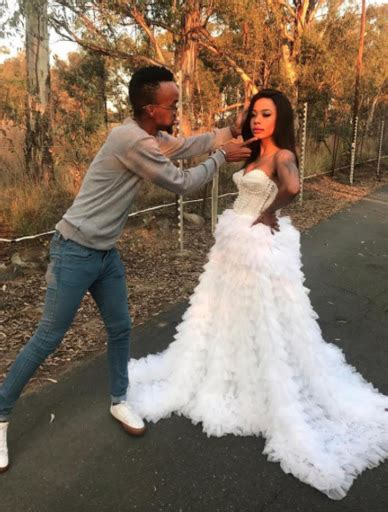 kelly khumalo  stunning   wedding gown
