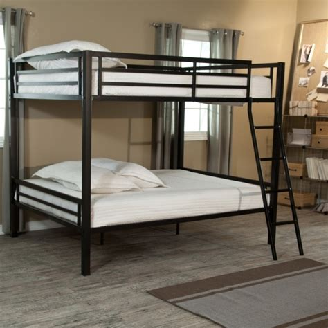 duro wesley twin over full bunk bed silver hayneedle metal bunk beds twin over full mainstays pictures 01 bed