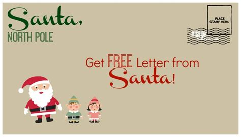 Sweepstakes Postmarked - free letter from santa postmarked from north pole send by 12 15 mission to save