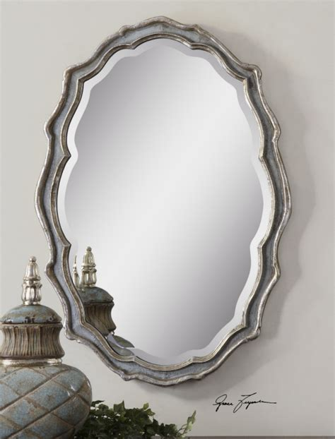 silver oval mirrors bathroom large beveled wall mirror mirror wall paneling hotel