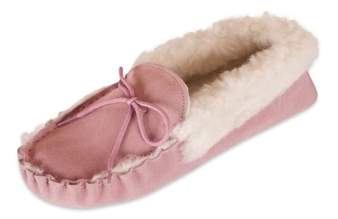 slippers for womens with soles nordvek womens sheepskin moccasin slippers wool collar