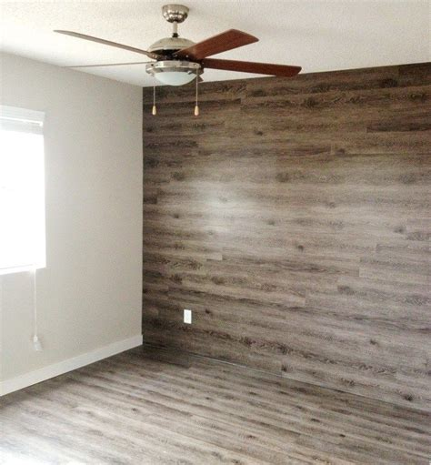 wood plank accent wall walls  hold   brick