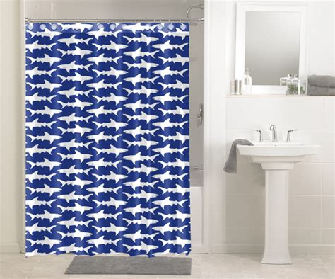 best material for curtains waterproof fabric shower curtain shark print best