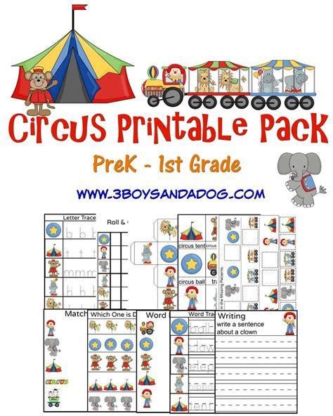 printable circus activity sheets circus printable worksheets 3 boys and a dog 3 boys