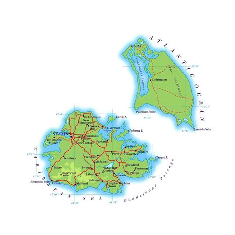 antigua and barbuda map maps of antigua and barbuda map library maps of the world