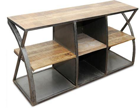 meuble tv acier et bois meuble tv acier et bois vintage industriel lestendances fr
