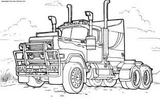 camions coloriages des transports page 2