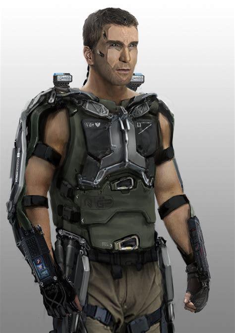 film avec exosquelette denis simon figurine soldat du future avec armature