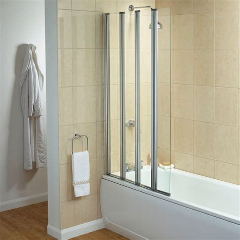 Concertina Shower Door Lewis Elite Semi Frameless 4 Fold Shower Screen Review Compare Prices Buy