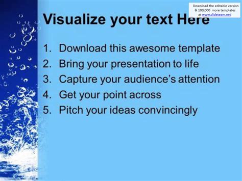 how to save a powerpoint template save water save conservation powerpoint templates ppt