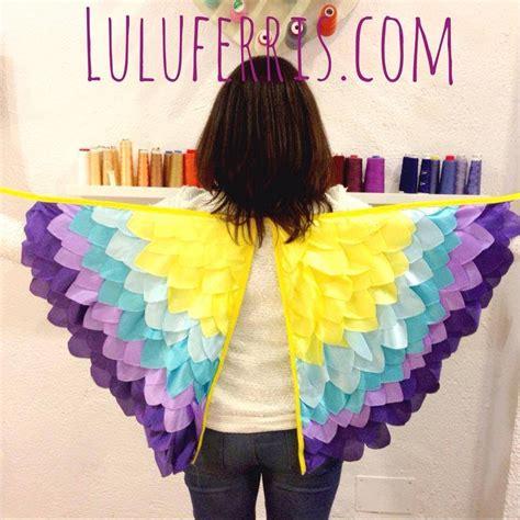 como hacer unas alas con bolsas de basura o carton de pajaro tutorial 16 alas de tela youtube