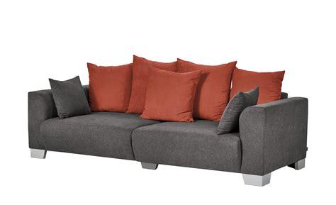 smart big sofa grau braun flachgewebe tonja schlamm
