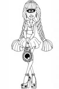 monster high luna mothews coloring pages iris clops coloring page free printable coloring pages