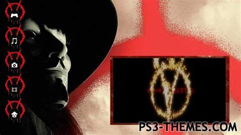 themes v for vendetta ps3 themes 187 v for vendetta animated