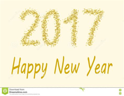 new year gold happy new year 2017 gold spangles stock illustration
