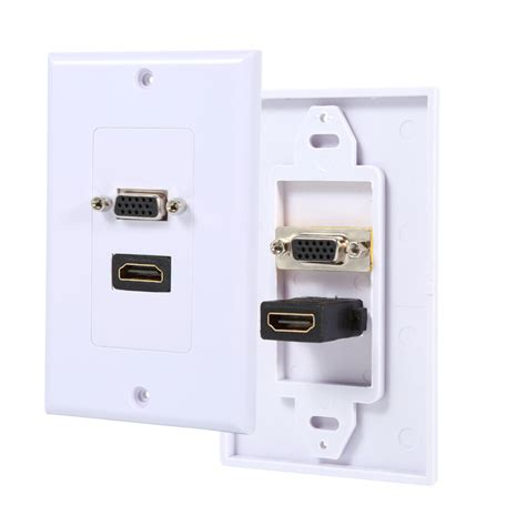 Vga Outlet Hdmi Outlet hdmi vga wall plate hdmi 1 port vga av