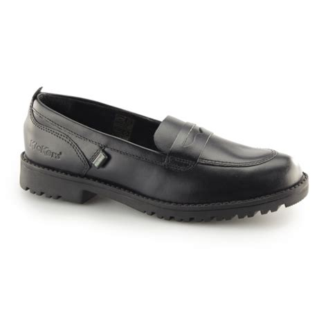 kickers loafers kickers lachly loafer leather loafers black