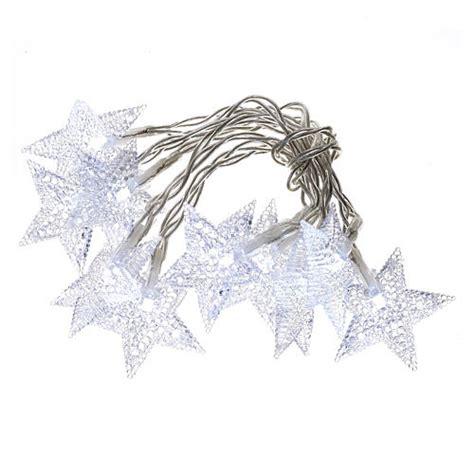 illuminazione di natale illuminazione di natale set 10 stelle led bianco ghiaccio