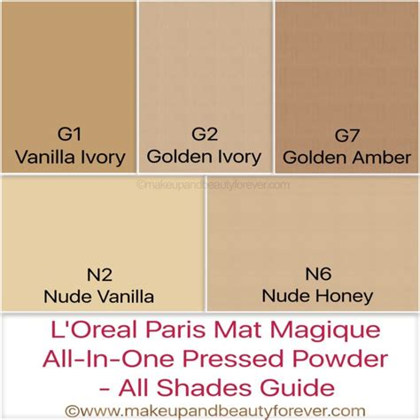 L Oreal Mat Magique l oreal mat magique compact powder shades review