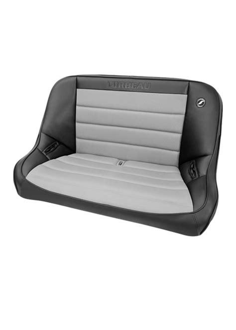 ss bench corbeau baja ss bench black vinyl grey cloth 40