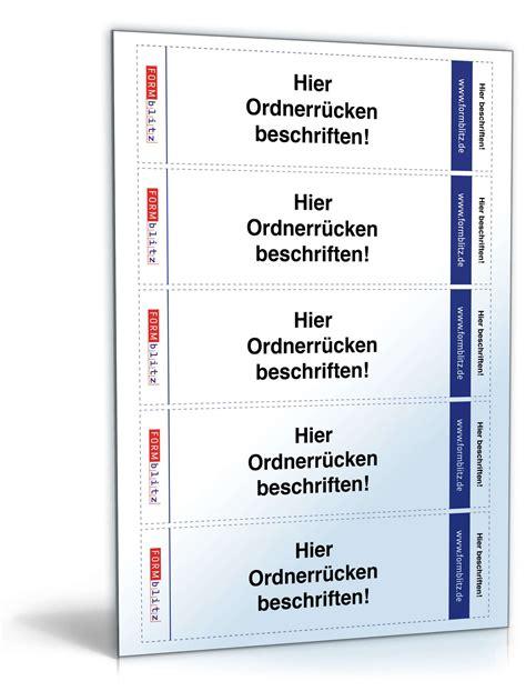 Word Vorlage Ordnerrücken Elba Ordnerr 252 Cken F 252 R Leitz Ordner Hochformat 5 3 X 18 8