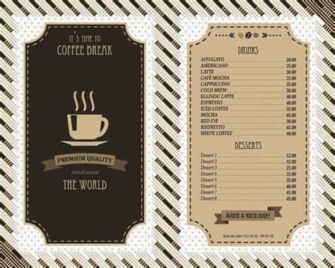 cafe menu template best 25 cafe menu design ideas on cafe menu